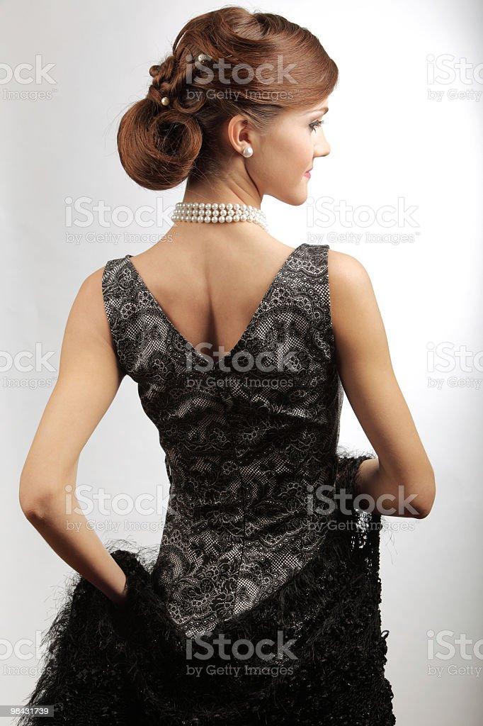 retro stylized young woman royalty-free stock photo