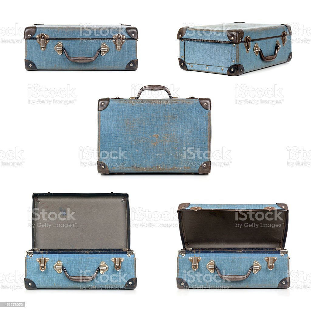 Retro Suitcase Collection stock photo