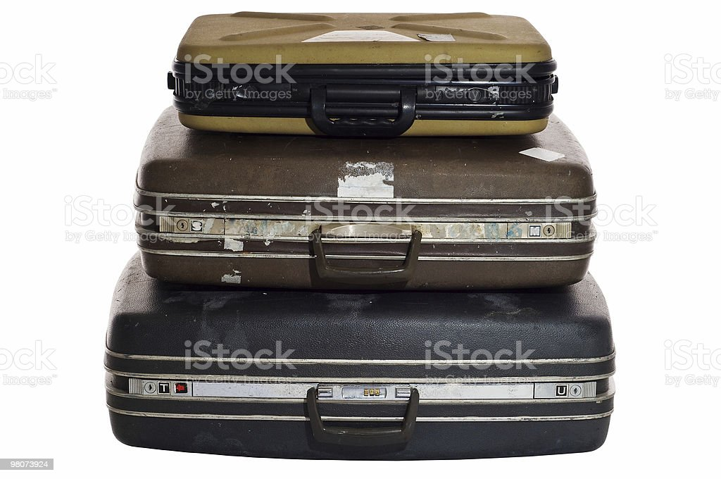 Retro Suitcases royalty-free stock photo