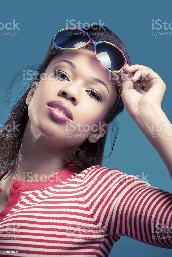 Retro summer look royalty-free stock photo