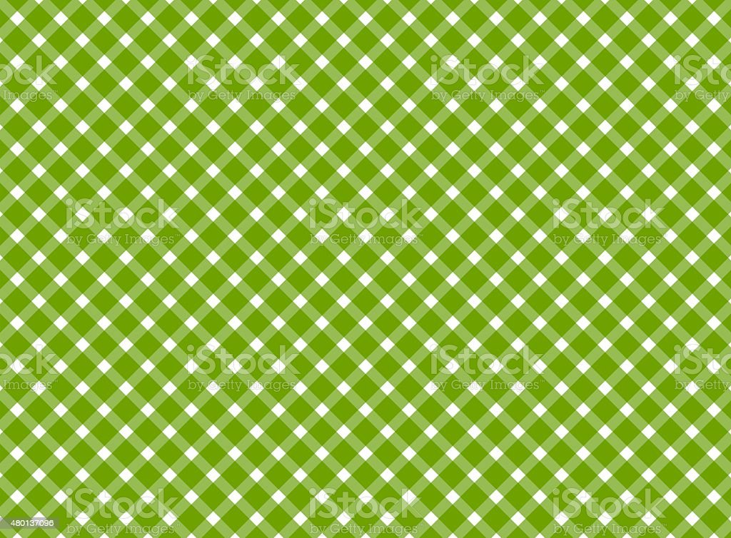 Retro tablecloth green white stock photo