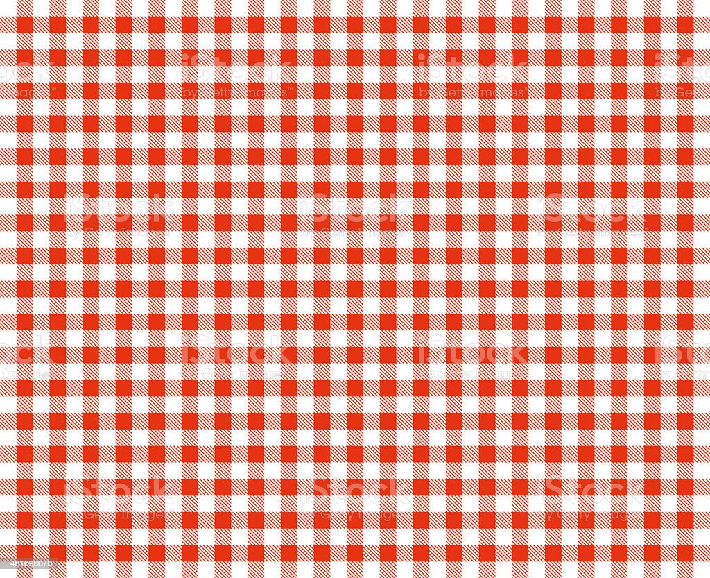 Retro tablecloth red and white stock photo