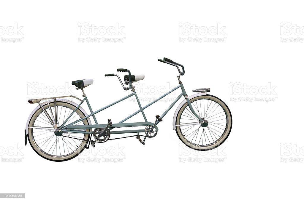 Retro tandem bicycle stock photo