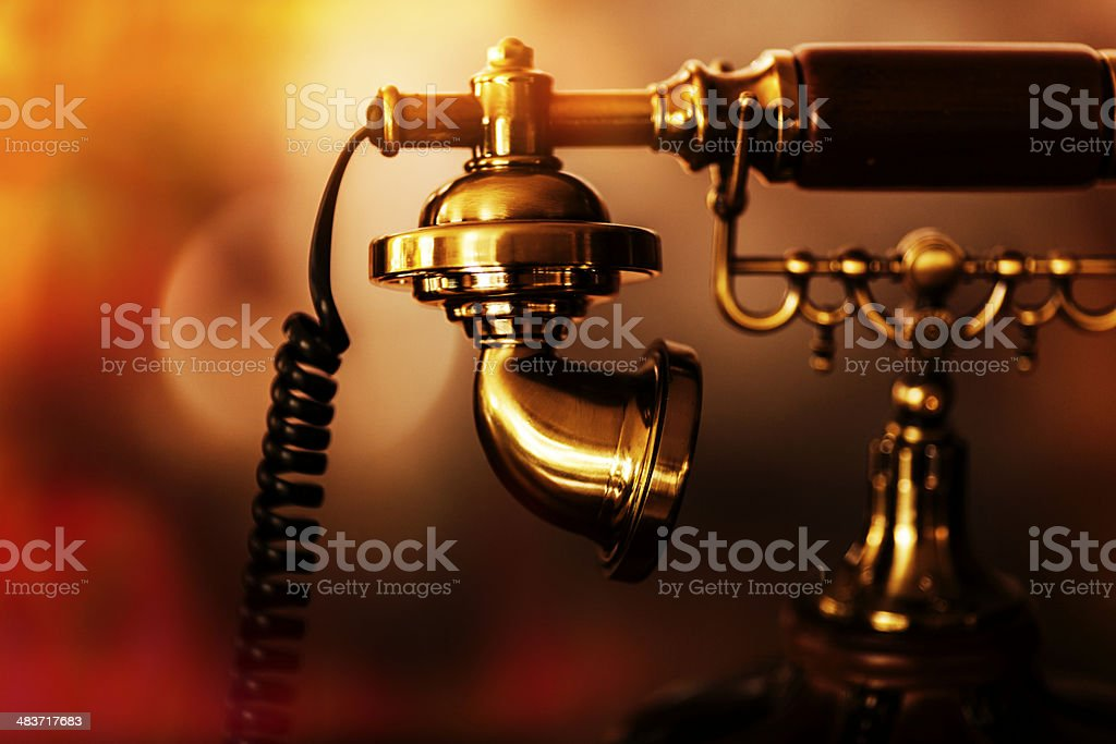 Retro Telephone Detail stock photo