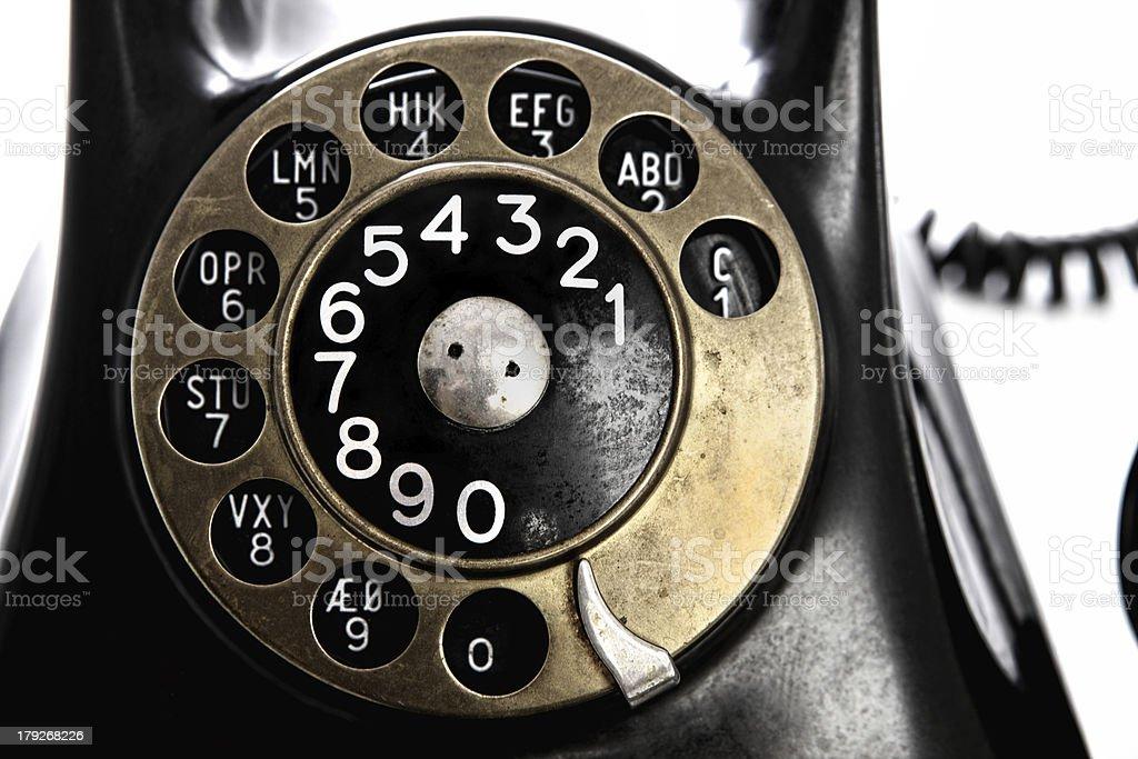 retro telephone dial stock photo