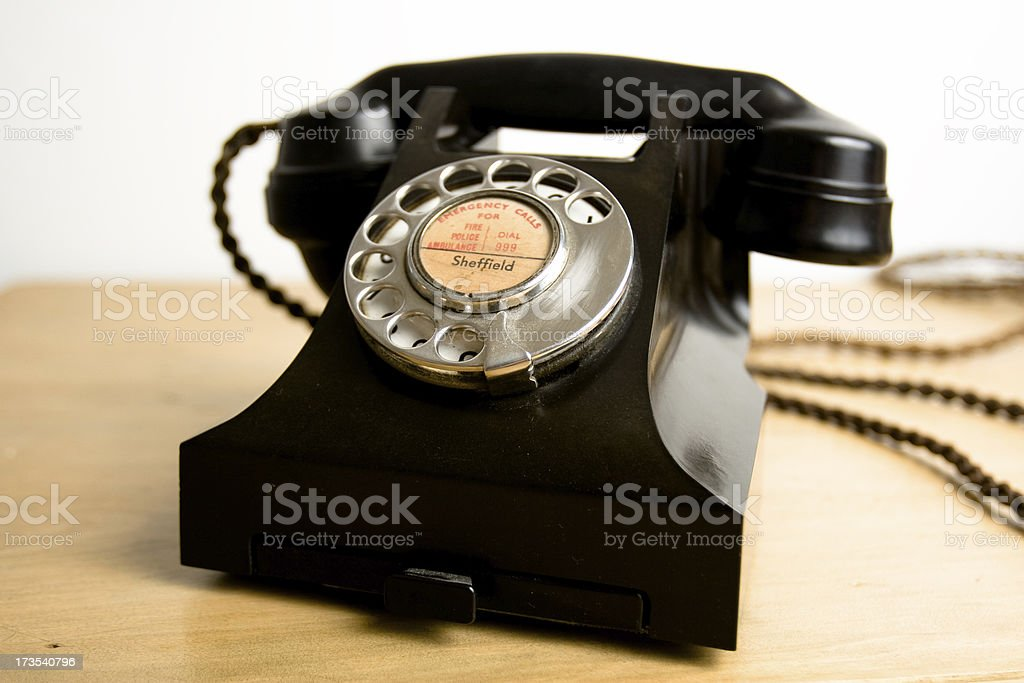 Retro Telephone - Royalty-free 1950-1959 Stock Photo