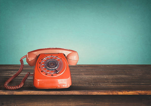 retro telephone - the past stock photos and pictures