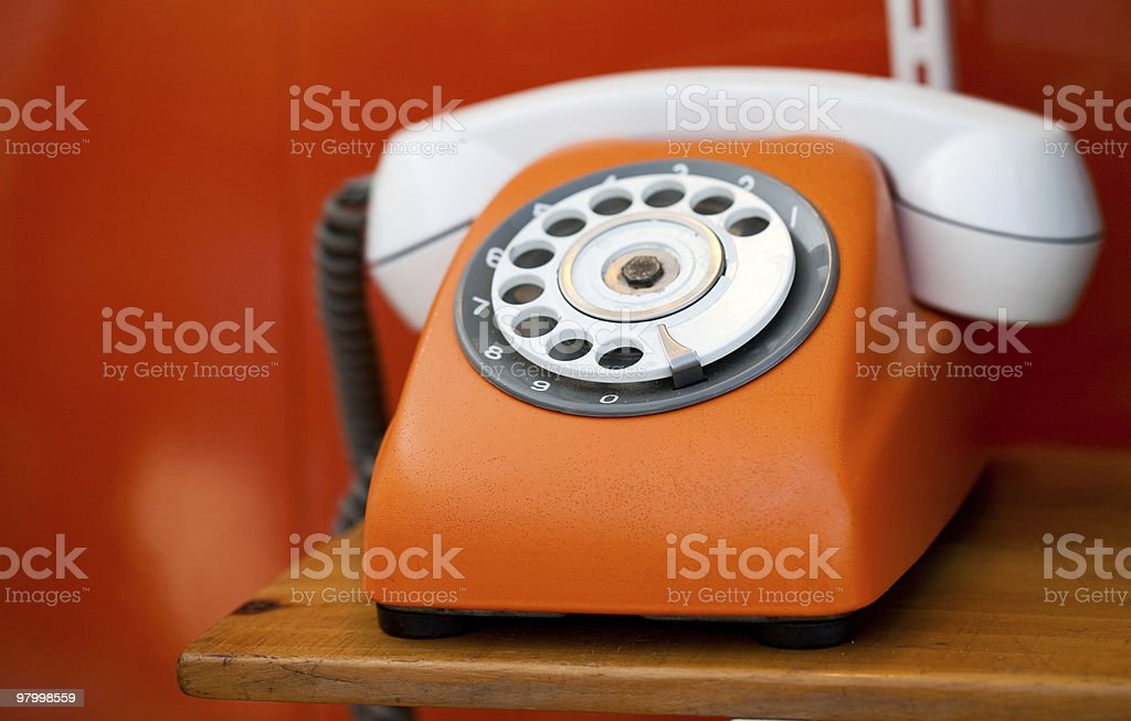 Retro telephone royalty free stockfoto