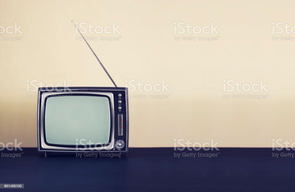 Retro television header - foto de acervo