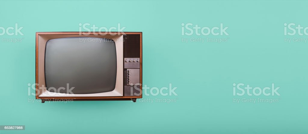 Retro television header stock photo