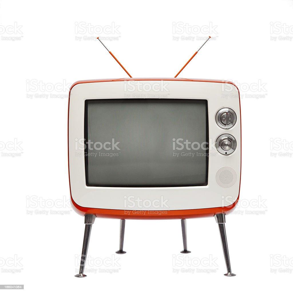 retro television (isolated) stock photo