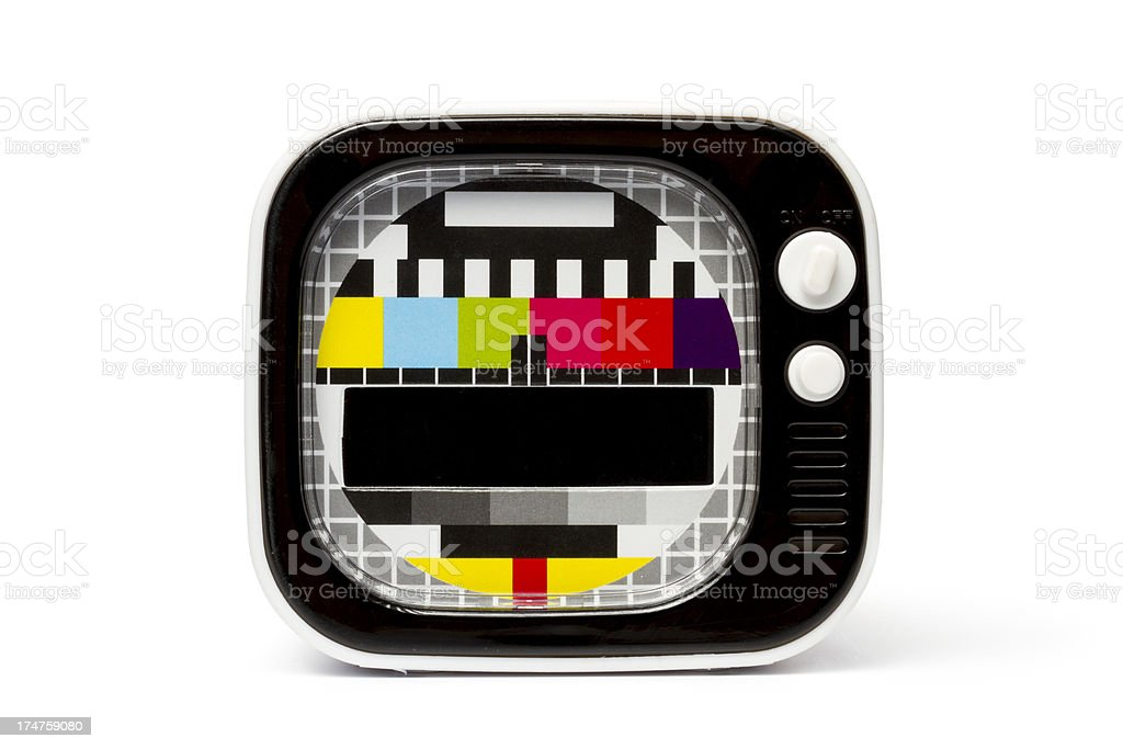 Retro Television with Test Pattern stock photo