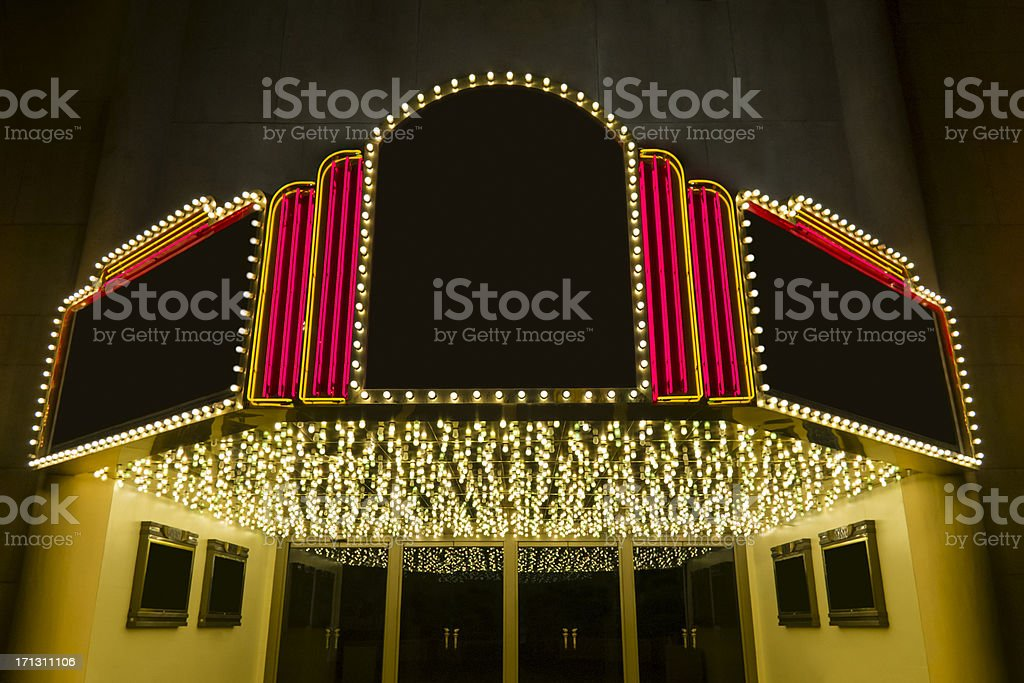 Retro theater stock photo