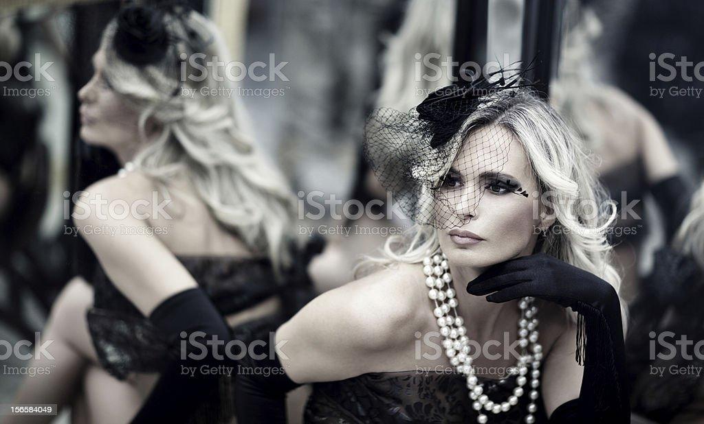 Retro theatre beauty stock photo