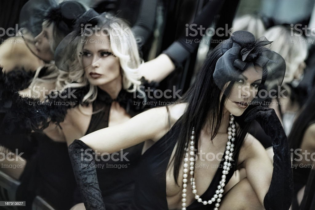 Retro theatre beauty royalty-free stock photo