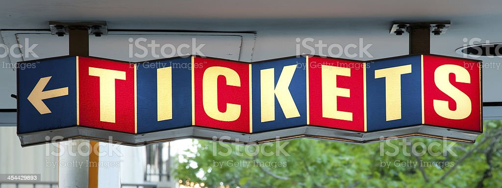 Retro Tickets Sign royalty-free stock photo