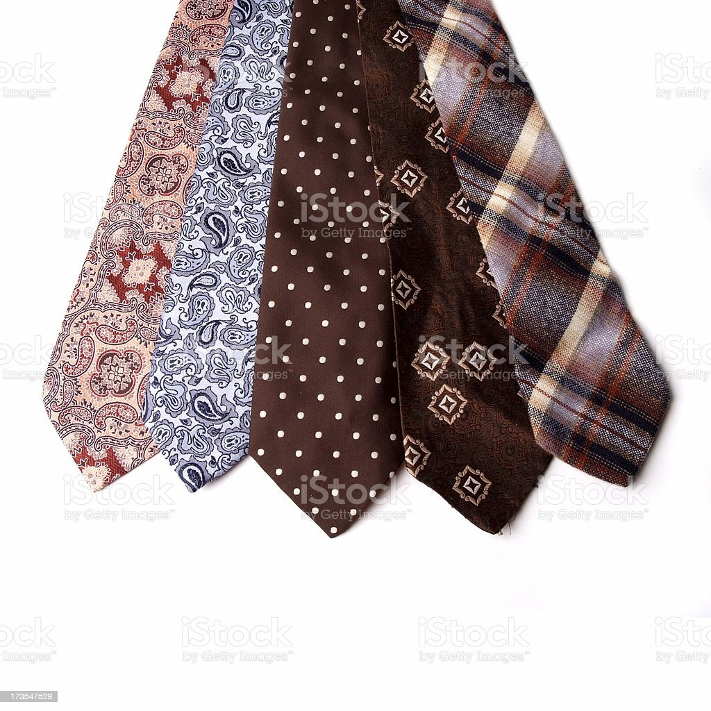 Retro Ties royalty-free stock photo