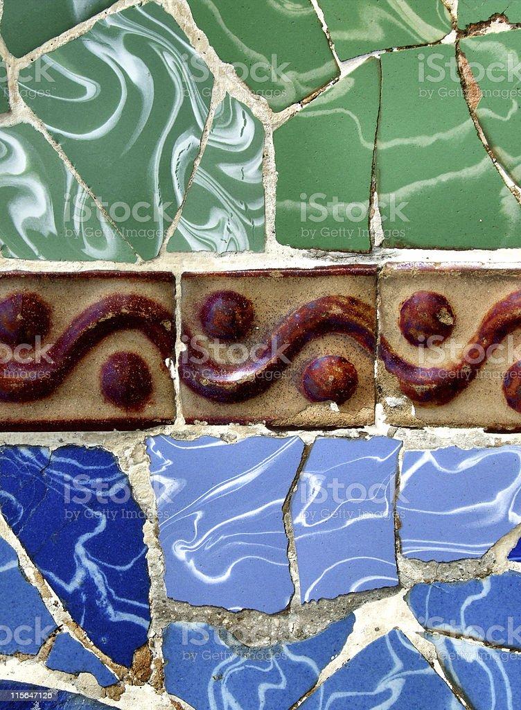 Retro tiles colorful mosaic background royalty-free stock photo