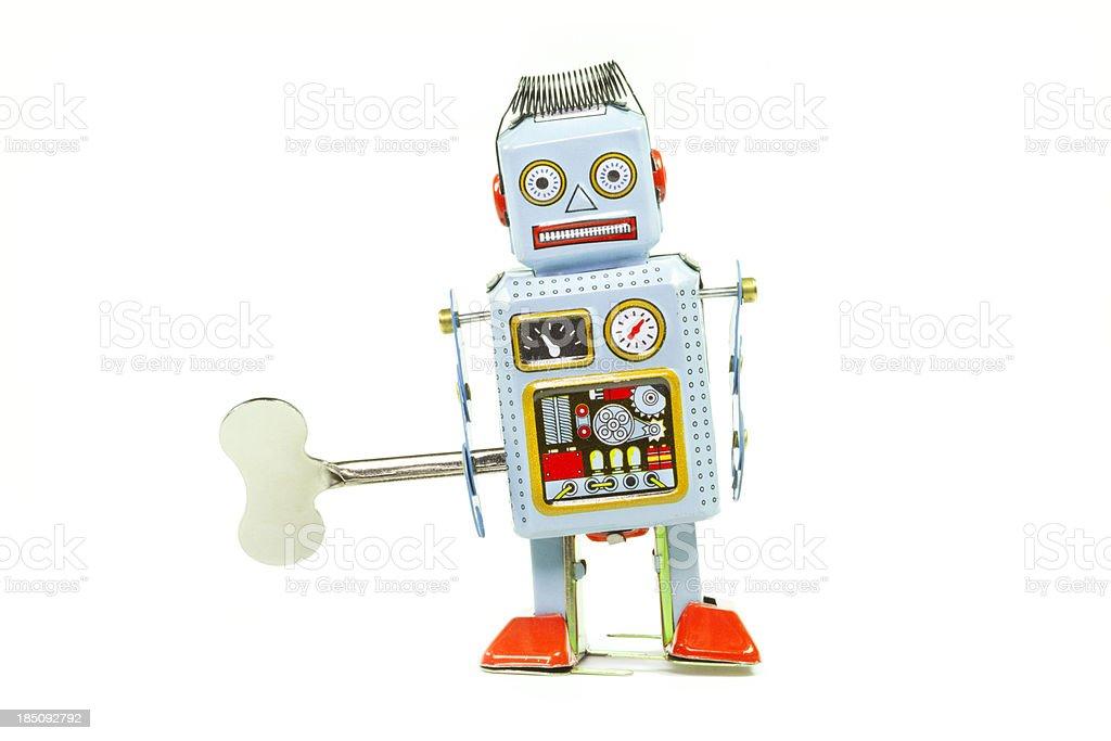 Retro Zinn Spielzeug-Roboter – Foto