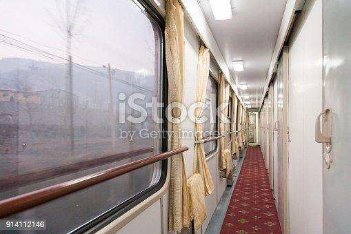 istock Retro train interior background 914112146
