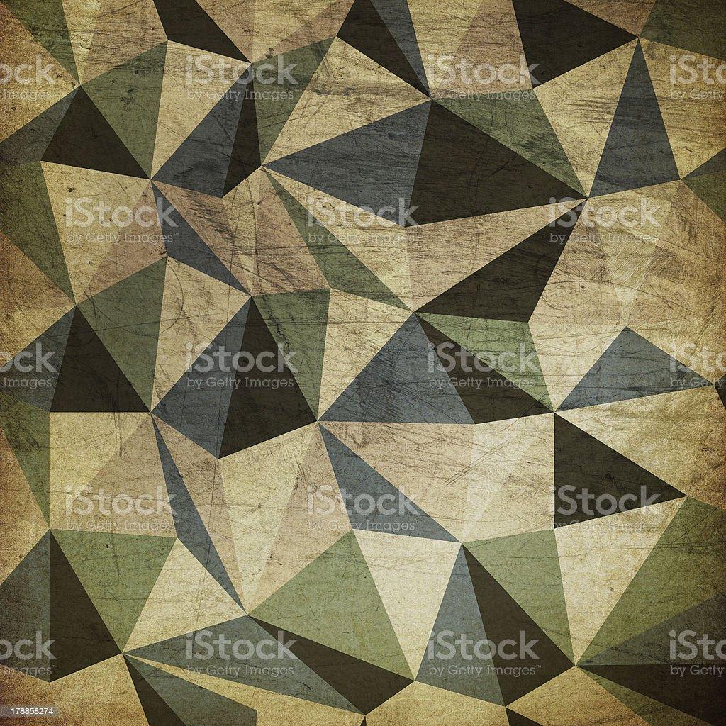 Retro triangles background stock photo