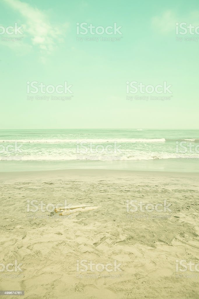 Retro Turquoise Beach royalty-free stock photo