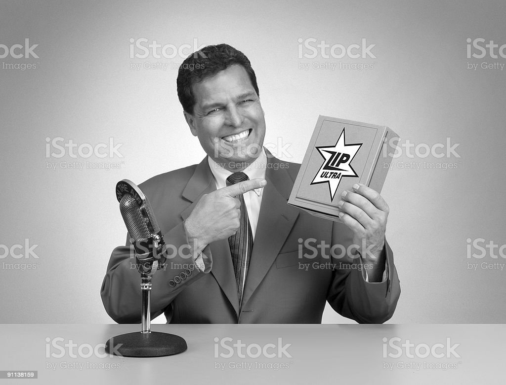Retro TV Commercial stock photo