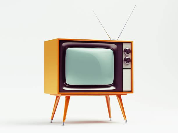 A retro TV on a white background