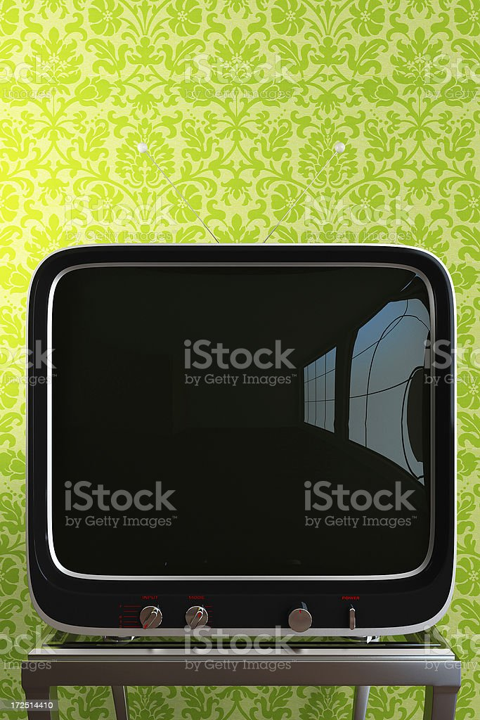 retro TV royalty-free stock photo