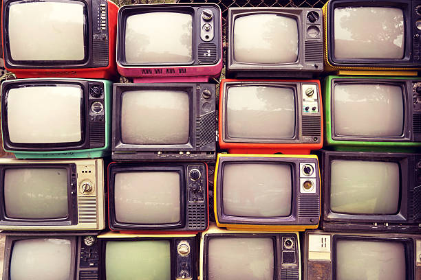 retro tv - vintage stock photos and pictures