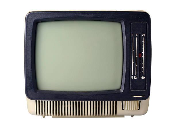 Retro TV stock photo