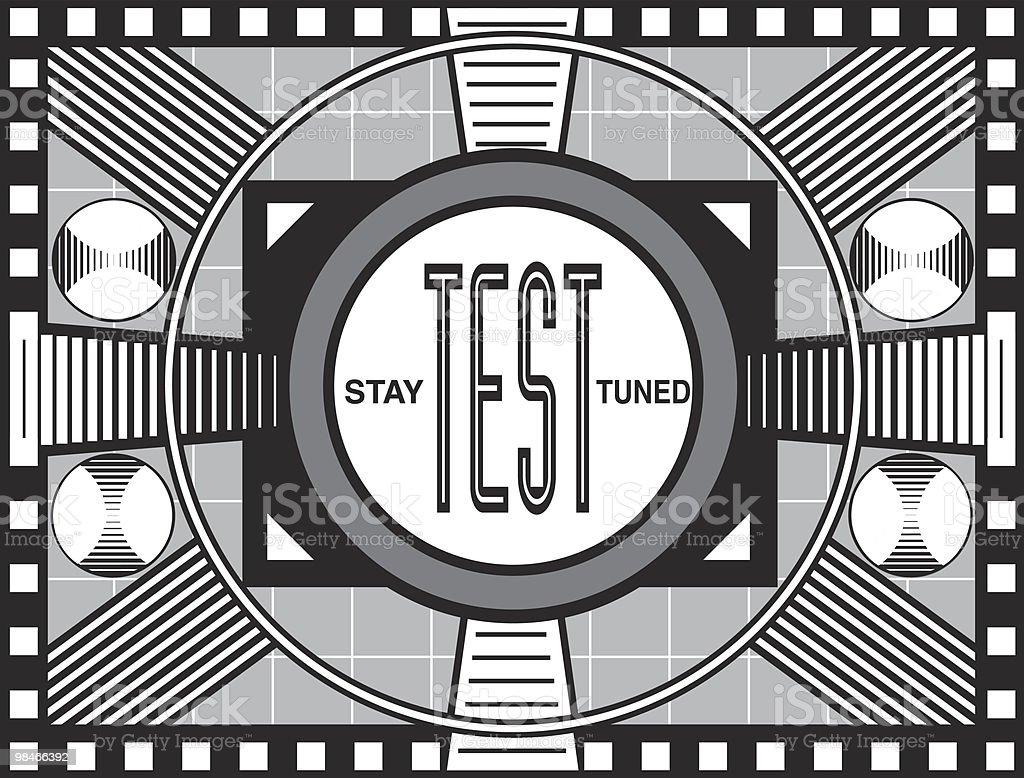 Retro TV Test Pattern royalty-free stock photo