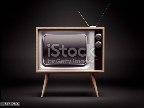 istock Retro TV with Clipping Path 174712590