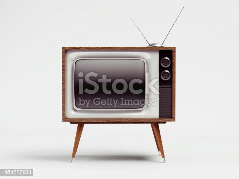 istock Retro TV with Clipping Path 454227631