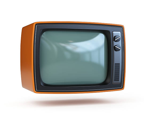 Retro TV with clipping path Retro TV with clipping path portable television stock pictures, royalty-free photos & images