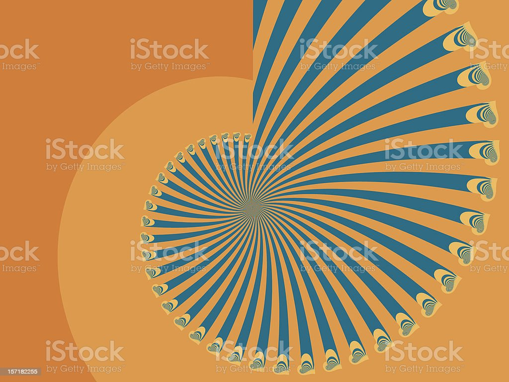 Retro twirl with oscillation royalty-free stock photo