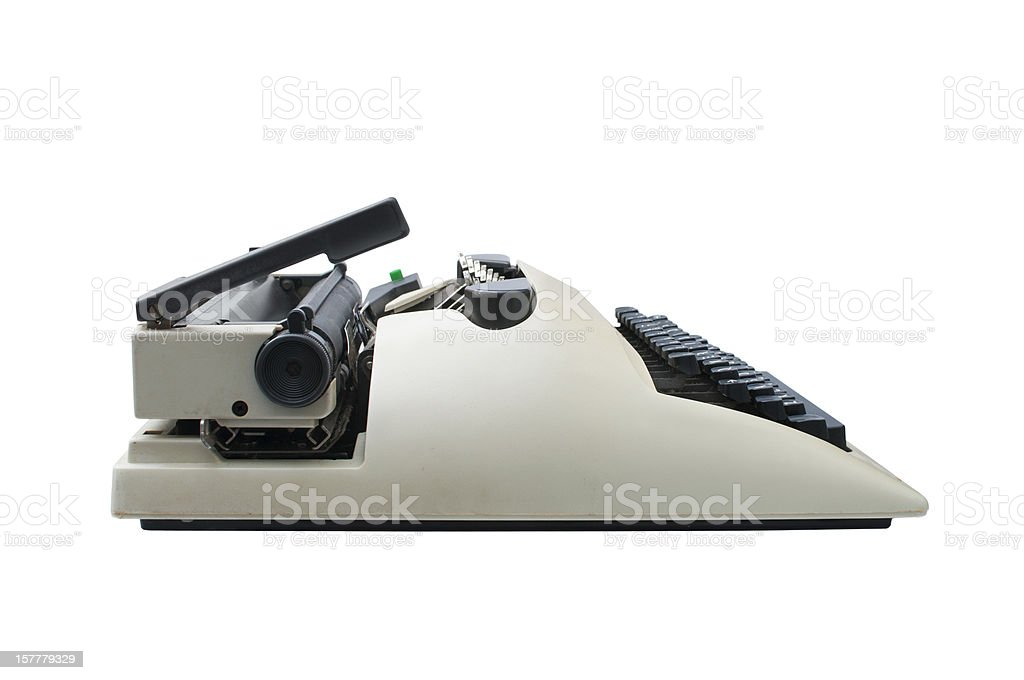 Retro typewriter royalty-free stock photo