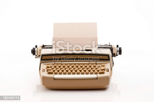 Old retro typewriter with blank paper.Other images from the series.