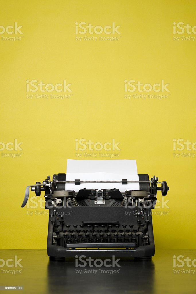 Retro Typewriter stock photo