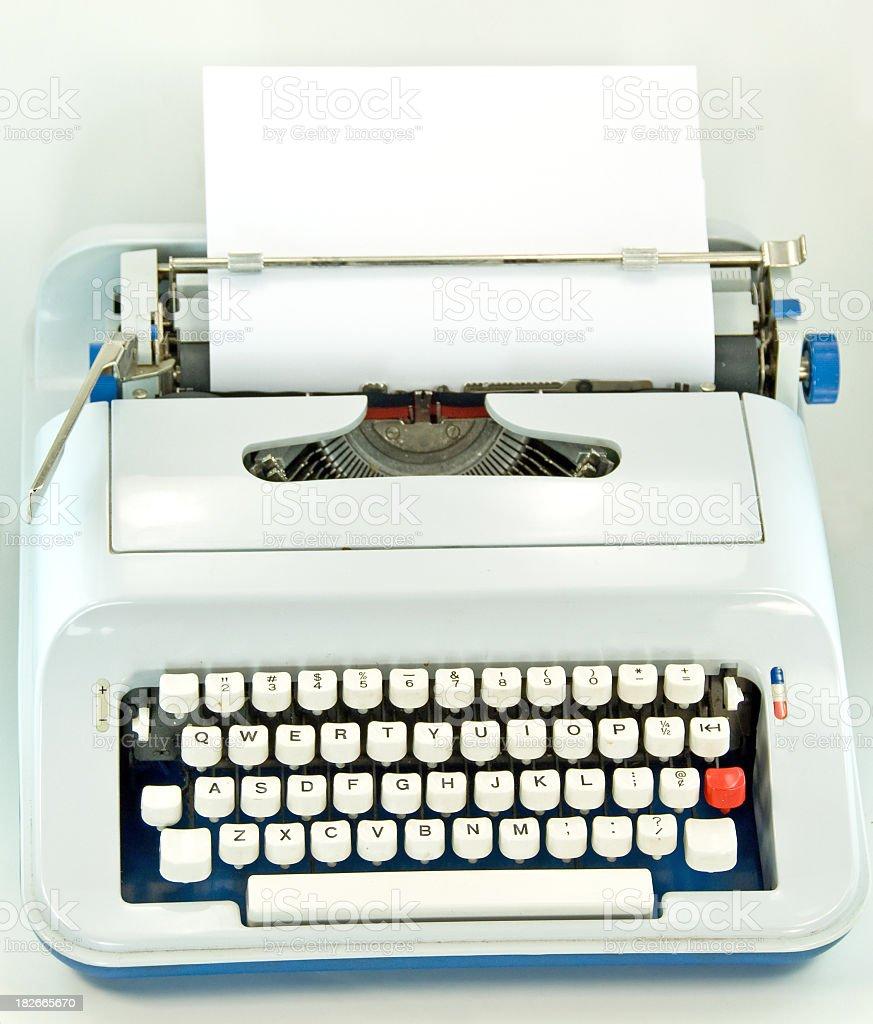 Retro Typewriter With Blank Paper royalty-free stock photo