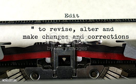 Retro typewriter with definition for compose.