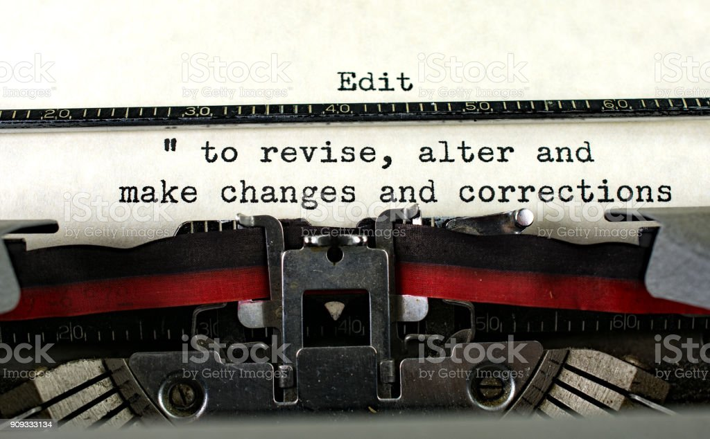 Retro typewriter with definition for compose stock photo
