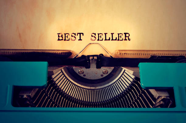retro typewritter and text best seller written with it stock photo
