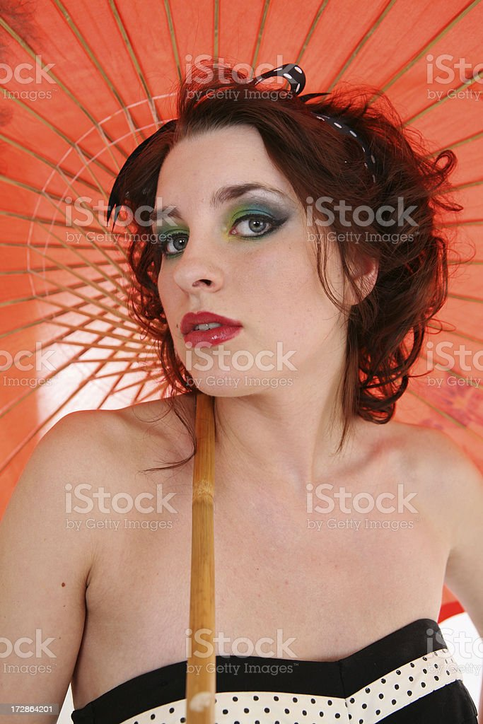 Retro Umbrella Series stock photo