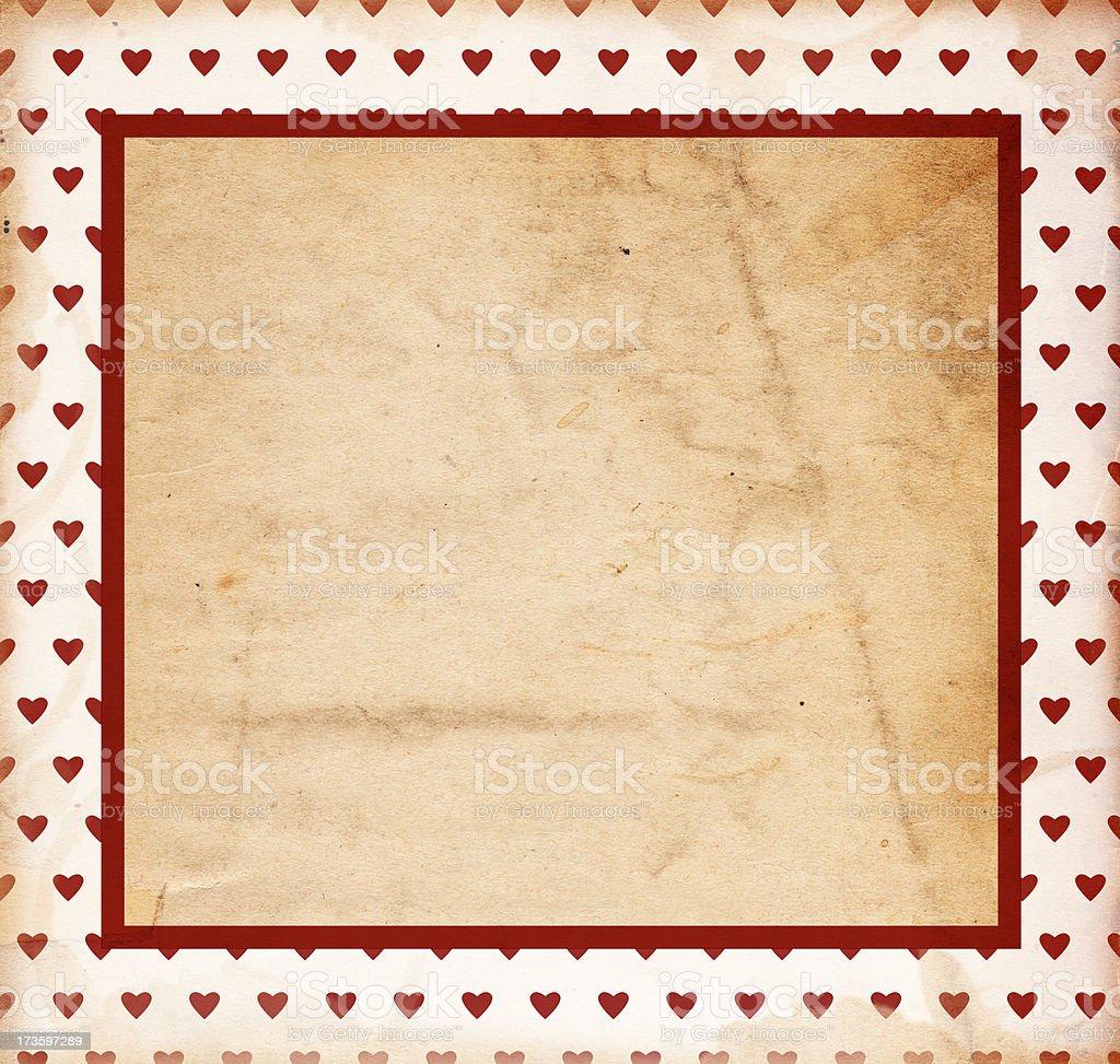 Retro Valentine Paper XXXL royalty-free stock photo