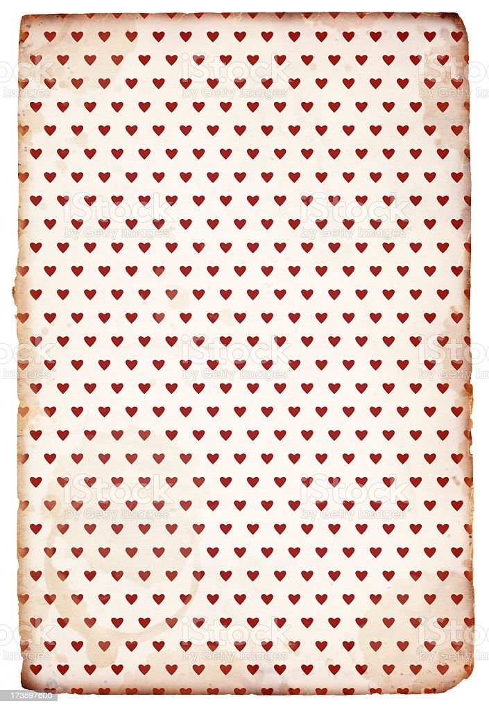 Retro Valentine Paper XXXL royalty-free stock photo
