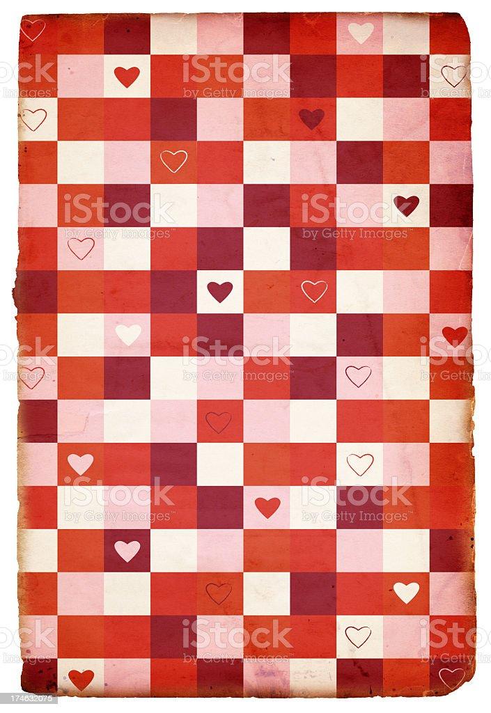 Retro Valentine's Paper XXXL royalty-free stock photo