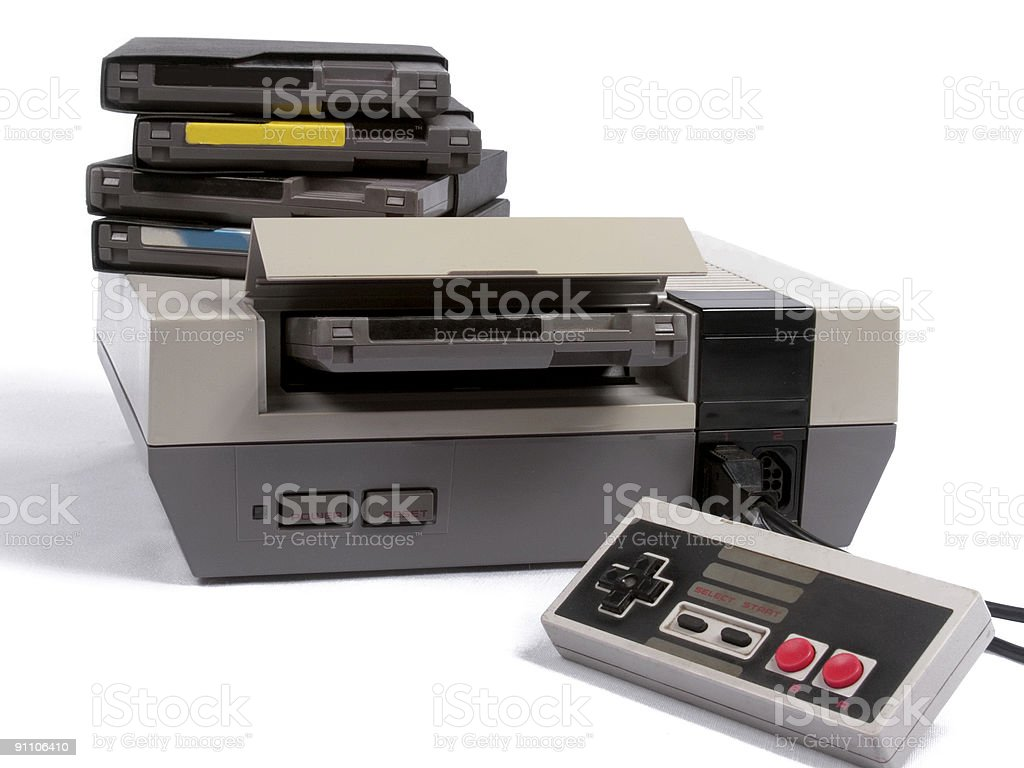 Retro Video Game System royalty-free stock photo