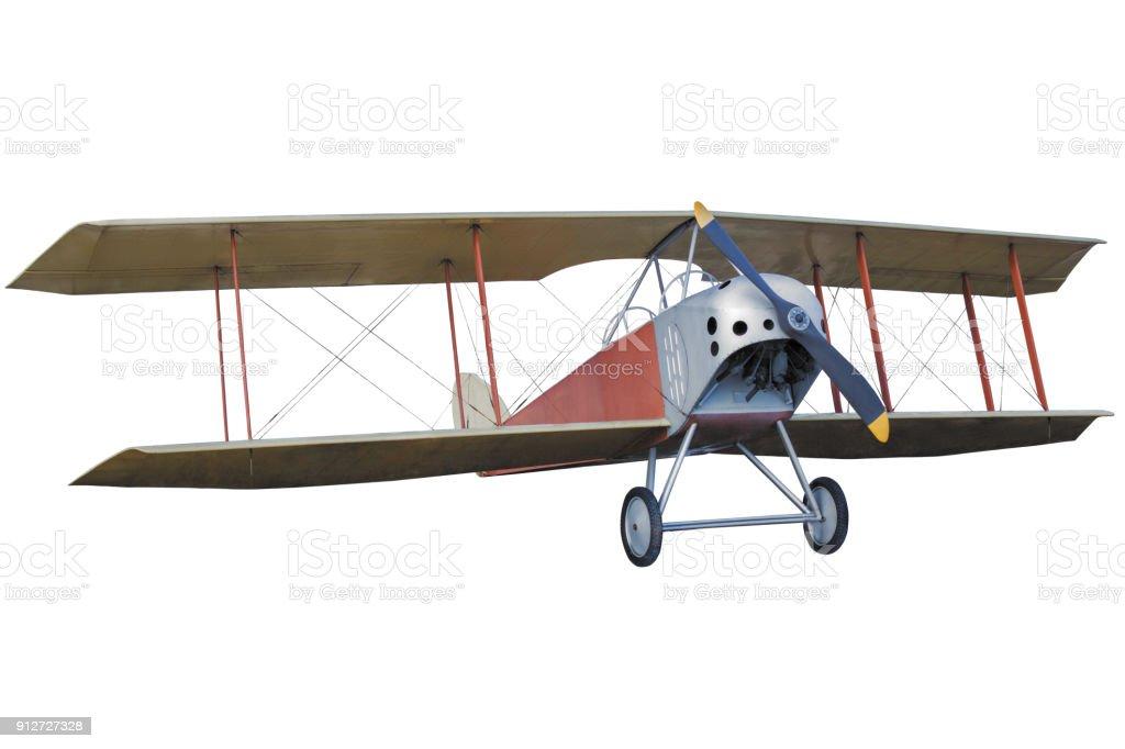 retro vintage airplane stock photo