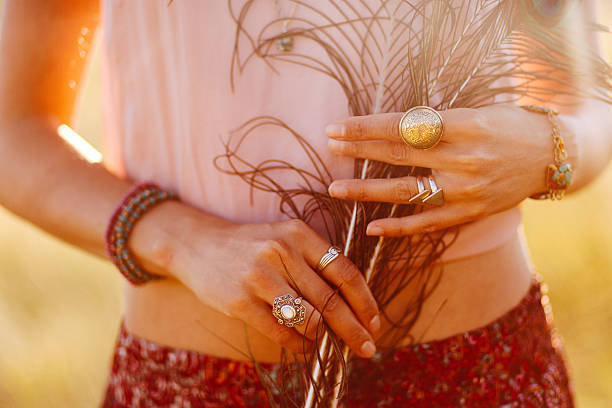 retro vintage fashion hand jewelry and accessories - low contrast stock pictures, royalty-free photos & images